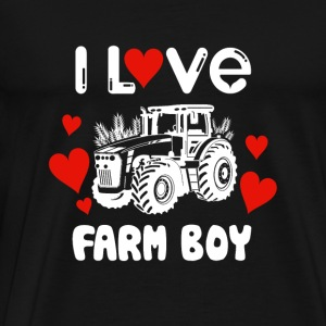 Farm boy - i love farm boy - farmer lover - Men's Premium T-Shirt