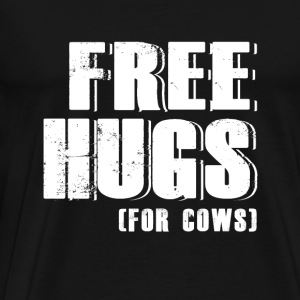 Cow - free hugs for cows - cow lover - Men's Premium T-Shirt