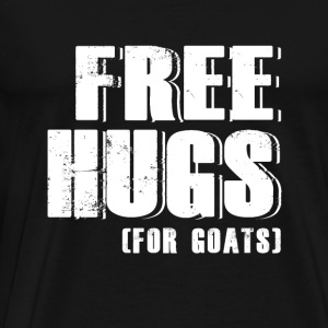 Goat - free hugs for goats - goat lover - Men's Premium T-Shirt