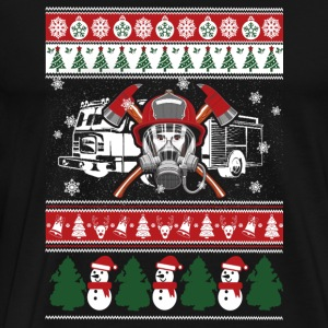 - fireman merry xmas sweater - Men's Premium T-Shirt