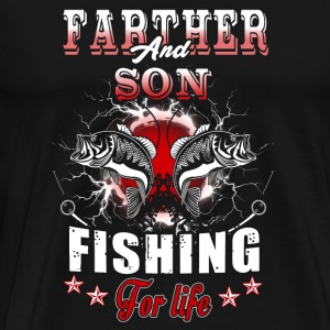 Fishing - father and son fishing for life - Men's Premium T-Shirt