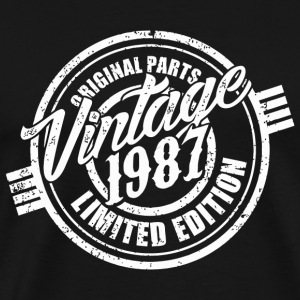 1987 - Vintage 1987 Original Parts. Funny 30th B - Men's Premium T-Shirt