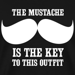 Mustache - The mustache is the key to this outfi - Men's Premium T-Shirt
