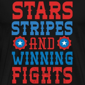 Usa - Stars Stripes And Winning Fights - Men's Premium T-Shirt