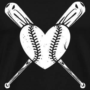 Baseball - Baseball Heart Shirt - Men's Premium T-Shirt