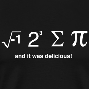 Pi day - I ate pi and it was delicious - Men's Premium T-Shirt