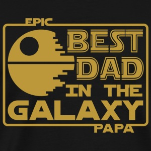 Papa - Epic Best Dad In The Galaxy Papa - Men's Premium T-Shirt