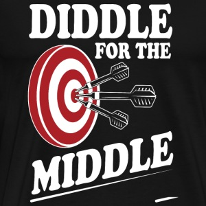 Dart - Diddle for the middle - Men's Premium T-Shirt