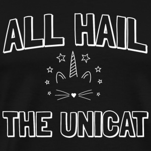 Unicorn - All hail the unicat - Men's Premium T-Shirt