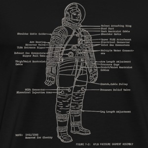 Space travel - Astronaut Diagrams - Men's Premium T-Shirt
