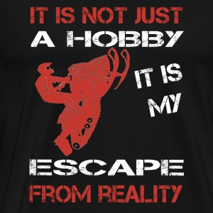 Snowmobile - It is my escape from reality - Men's Premium T-Shirt
