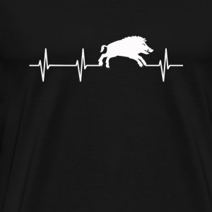 Hog lover - My heartbeat is you - Men's Premium T-Shirt