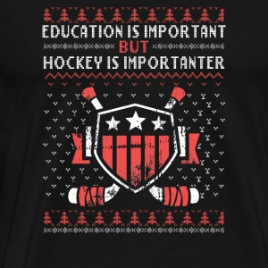 Ugly Christmas Sweater - Hockey is more importan - Men's Premium T-Shirt