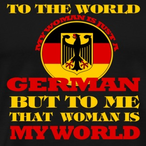 German - To me my woman is my world t-shirt - Men's Premium T-Shirt