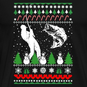 Fisherman - Ugly Christmas Sweater - Men's Premium T-Shirt
