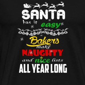Bakers - Make naughty and nice lists all year lo - Men's Premium T-Shirt