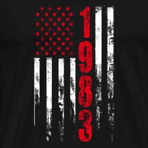 1983 - Tshirt for american who was born in 1983 - Men's Premium T-Shirt