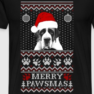 Ugly Christmas sweater for St. Bernard lover - Men's Premium T-Shirt