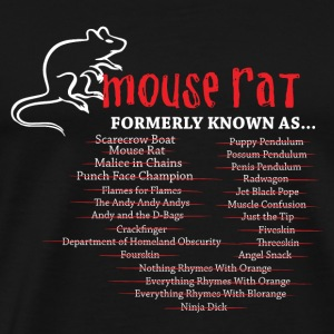 Mouse - Mouse rat formerly known as crackfinger - Men's Premium T-Shirt