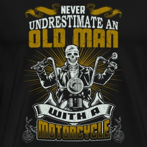 Motorcycle Motorcycle An old man with a moto - Men's Premium T-Shirt