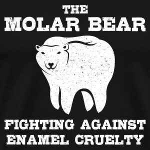 The molar bear fighting against enamel - Men's Premium T-Shirt