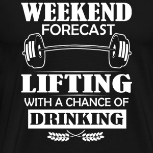 Lifting with a chance of drinking tee - Men's Premium T-Shirt