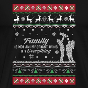Family is everything - Ugly Christmas Sweater - Men's Premium T-Shirt