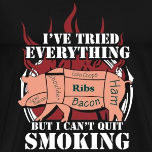 Bacon - I've tried everything to quit smoking - Men's Premium T-Shirt