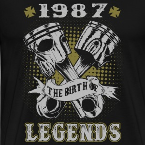 1987 - 1987 The birth of legends awesome t-shirt - Men's Premium T-Shirt