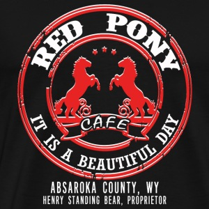 Red pony cafe - It is a beautiful day - Men's Premium T-Shirt