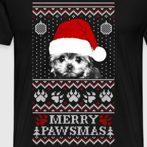 Ugly Christmas sweater for Morkie lover - Men's Premium T-Shirt