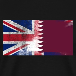 British Qatari Half Qatar Half UK Flag - Men's Premium T-Shirt
