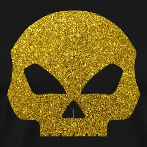 Golden Skull - Gold Glitter Death Bones Pirate - Men's Premium T-Shirt