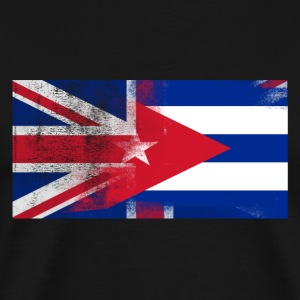 British Cuban Half Cuba Half UK Flag - Men's Premium T-Shirt