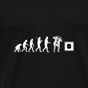 electrician shirt funny electricity design present - Men's Premium T-Shirt