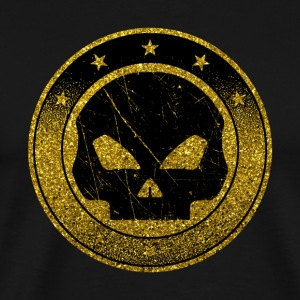 Golden Skull Emblem - Gold Symbol Death Bones - Men's Premium T-Shirt