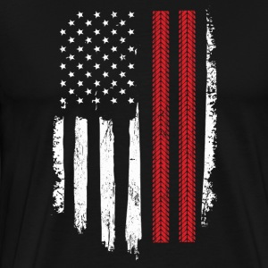 Racing Gift Distressed American Flag - Men's Premium T-Shirt