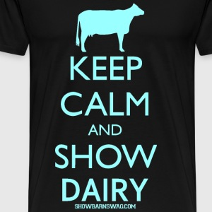 Keep Calm Dairy Teal - Men's Premium T-Shirt