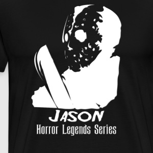 jason horror Legends - White inverted colors - Men's Premium T-Shirt