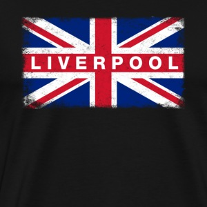Liver Pool Shirt Vintage United Kingdom Flag T-Shi - Men's Premium T-Shirt