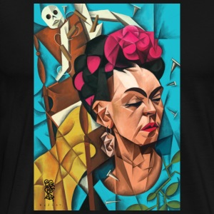 Frida Meets Cubes - Men's Premium T-Shirt