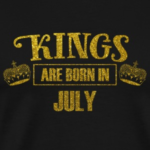 kings are born in july - gold glitter birthday - Men's Premium T-Shirt