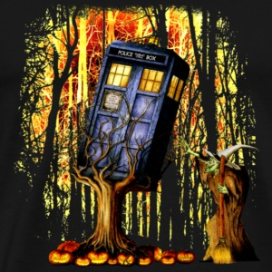 Halloween Phone Booth captured by witch - Men's Premium T-Shirt