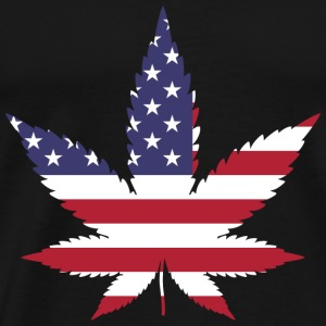 Weed USA America T-Shirt Canabis Man Woman - Men's Premium T-Shirt