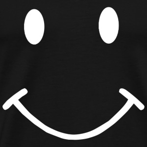 SMILEY FACE funny t shirt be happy love smile tee - Men's Premium T-Shirt