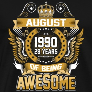 August 1990 28 Years Of Being Awesome - Men's Premium T-Shirt