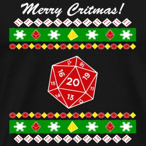 Merry Critmas Ugly Christmas - Men's Premium T-Shirt