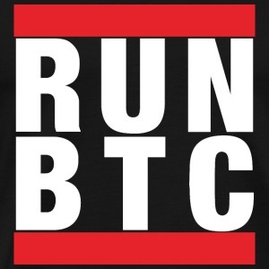 Bitcoin: Run BTC - Men's Premium T-Shirt