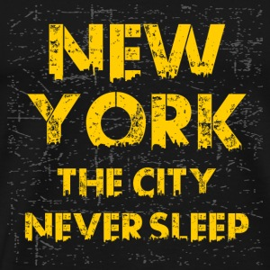 new york the city never sleep - Men's Premium T-Shirt