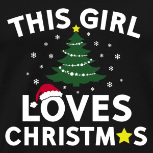 this girl loves christmas Tanks - Men's Premium T-Shirt